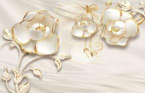 фотообои 3D Белые Цветы 18737