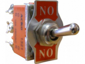 Кнопка без фиксации металлическая