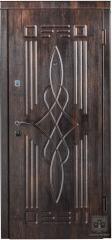 Дверь входная Форт Нокс серия Оптима модель DQ-16 тик темный/тик светлый