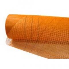 Сетка штукатурная фасадная оранжевая 5х5 140 г,м2 , 1 м (рулон 45м)