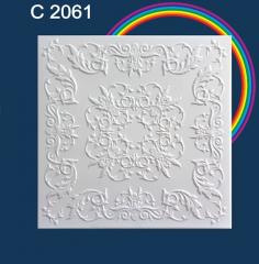 Плитка потолочная пенополистирольная C2061 Белые Стебли лозы Solid 1м2