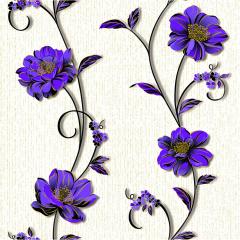 Континент обои бумажные 1267 Деми цветы сиреневый (0,53м х 10,05м = 5,3м2)