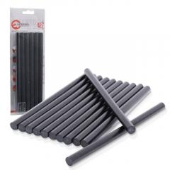 Термоклеевой стержень (комплект)   11,2*200мм 12шт черный Intertool
