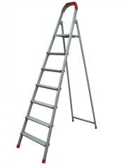 Лестница стремянка 6ст (5+1) 1,31м, до 150кг металлическая, плоскоовал. проф. зеленая Украина 70-136