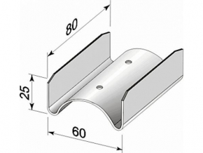 Соединитель CD 100х55х25 мм прямой