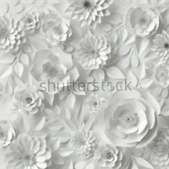 фотообои 3D Бумажные цветы 553772710