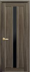 Дверь  Мода кедр Марти (с чёрным стеклом) Экошпон Новый стиль