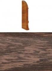 Заглушка для плинтуса с кабельканалом левая (венге)