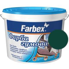 Краска для крыш Farbex Резиновая Зеленая матовая (оцинковка, шифер)  1 л 1,2 кг