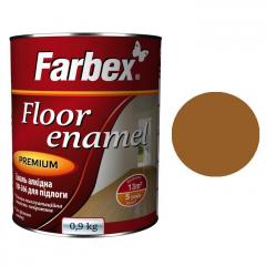 Эмаль для пола ПФ-266 Farbex Желто-коричневая  0,9 кг