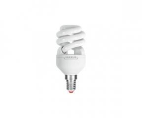 Лампа энергосберегающая   9Вт  220В Е14 4100K 'Maxus' XPiral 1-ESL-338-11 (гарантия три года)