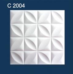 Плитка потолочная пенополистирольная C2004 Белые Бабочки Solid 1м2