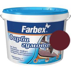 Краска для крыш Farbex Резиновая Вишневая матовая (оцинковка, шифер)  2,5 л 3,5 кг