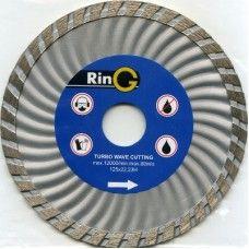 Диск отрезной алмазный 125*7*22,2мм турбоволна Ring/Wellcut