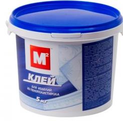 Клей для пенополистирола м2  1 кг белый