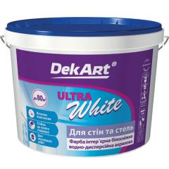 Краска водно-дисперсионная DekART для стен и потолков Ultra White  1 л 1,2 кг