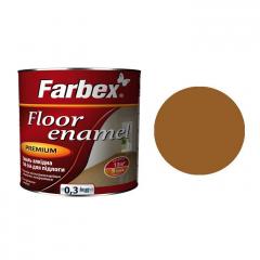 Эмаль для пола ПФ-266 Farbex Желто-коричневая  0,3 кг