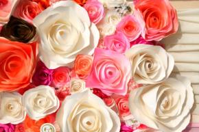 фотообои 3D бумажные цветы 18622