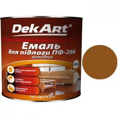 Эмаль для пола ПФ-266 DekArt Желто-коричневая  2,8 кг