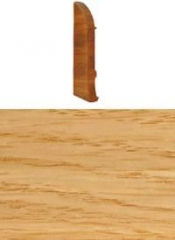 Заглушка для плинтуса с кабельканалом левая (дуб кордоба)