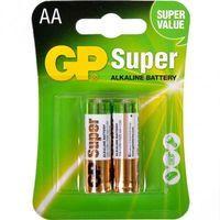 Батарейка пальчиковая GP Super Alkaline щелочная LR06 AA 15A-S2 2шт, 1шт