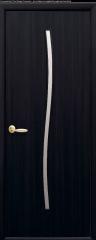 Дверь  Модерн венге dewild Гармония (со стеклом сатин) Экошпон Новый стиль