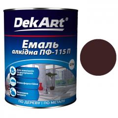 Эмаль ПФ-115 DekArt Коричневая  0,9 кг