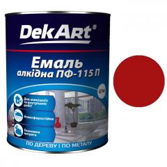 Эмаль ПФ-115 DekArt Красная  0,9 кг