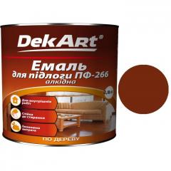 Эмаль для пола ПФ-266 DekArt Красно-коричневая  2,8 кг