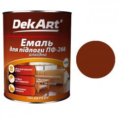 Эмаль для пола ПФ-266 DekArt Красно-коричневая  0,9 кг