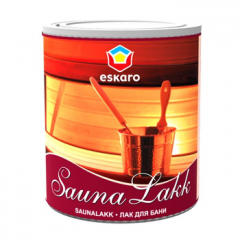 Лак для бани акриловый Eskaro Saunalakk полуматовый  0,95 л