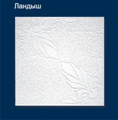 Плитка потолочная пресованная Solid ландыш белая 1м2