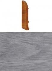 Заглушка для плинтуса с кабельканалом левая (дуб белый)