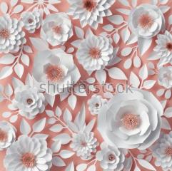 фотообои 3D Бумажные цветы 554250451