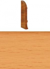 Заглушка для плинтуса с кабельканалом левая (бук)