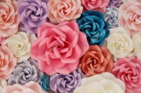 фотообои 3D Бумажные цветы 222991249
