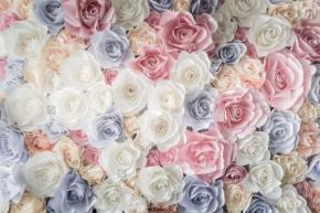 фотообои 3D Бумажные розы 663771136