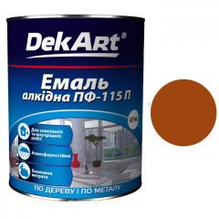 Эмаль ПФ-115 DekArt Красно-коричневая  0,9 кг