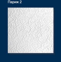 Плитка потолочная пресованная Solid париж-2 белая 1м2
