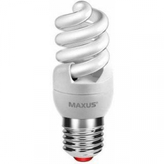 Лампа энергосберегающая   9Вт  220В Е27 2700K 'Maxus' T2 Slim full spiral 1-ESL-215-1 (гарантия два