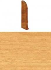 Заглушка для плинтуса с кабельканалом левая (бук светлый)