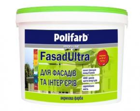 Краска латексная  Ультра Фасад Polifarb 14 кг