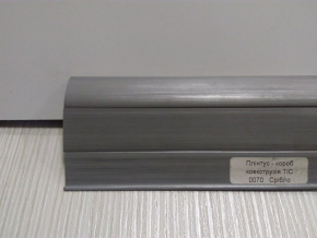 Плинтус кабельканал с резинкой ТИС 2,5м (серебристо-серый)