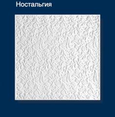 Плитка потолочная пресованная Solid ностальгия белая 1м2