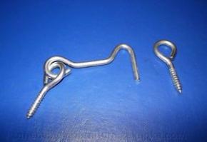 Крючек дверной 5 никель (длинна 5см) Польша