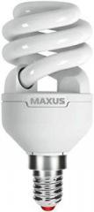Лампа энергосберегающая   9Вт  220В Е14 2700K 'Maxus'  XPiral 1-ESL-337-11 (гарантия три года)