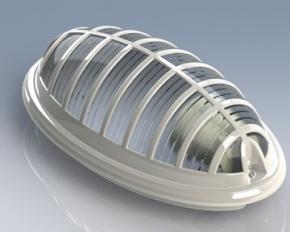 Светильник Акуа Бра 400-000-111 Horoz водонепроницаемый 26Вт ПЭЛ белый