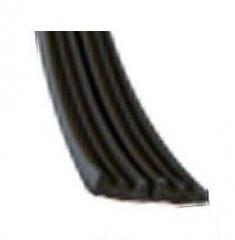 Уплотнитель E 2-й черный 9х4мм (к)