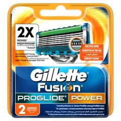 Бритвенные картриджи 2шт Gillette Fusion