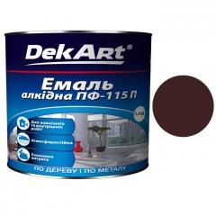Эмаль ПФ-115 DekArt Коричневая  2,8 кг